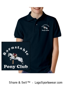 BPC youth polo - navy Design Zoom