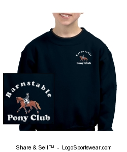 BPC Dressage Crew Neck Sweatshirt Design Zoom